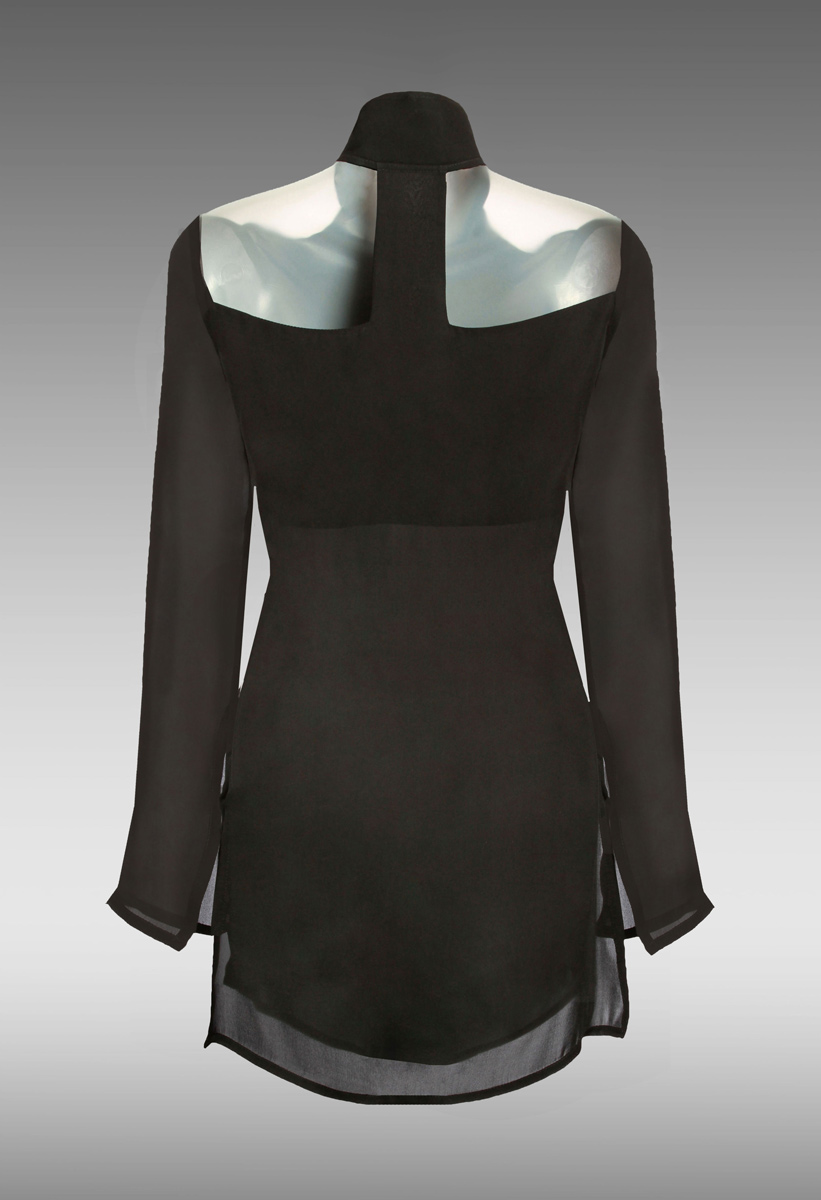 Muse-Shirt-Blouse-(Black)-[Back]M